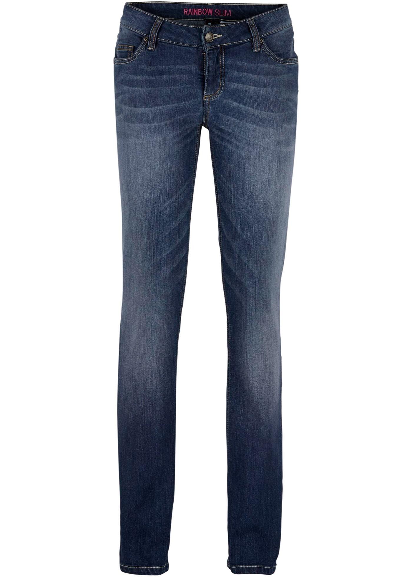 Calça jeans corte reto, Tamanho normal preta