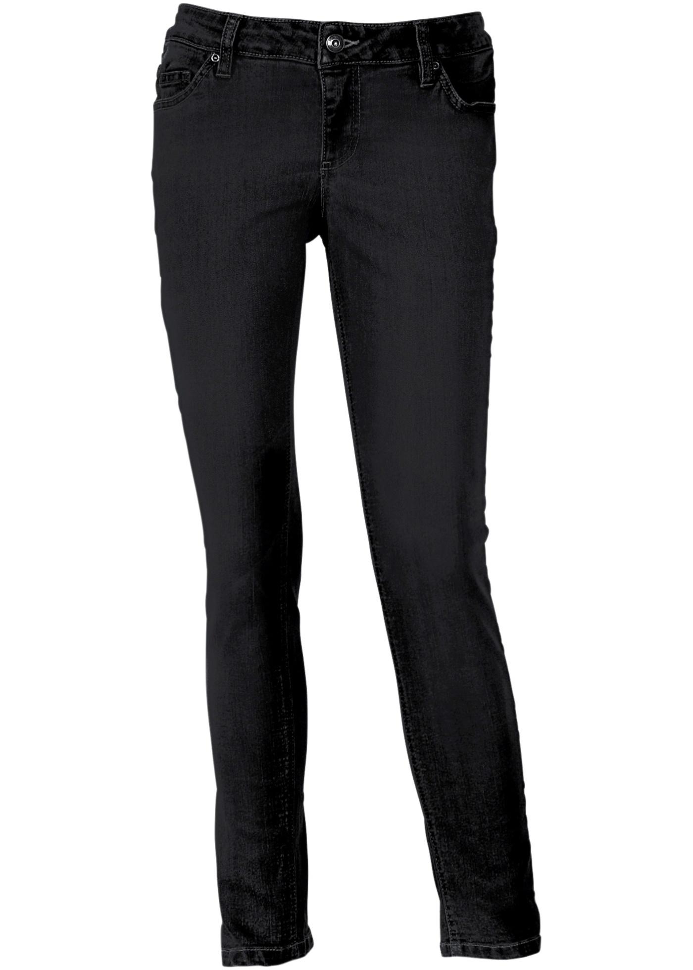 Calça jeans skinny, Tamanho normal preta
