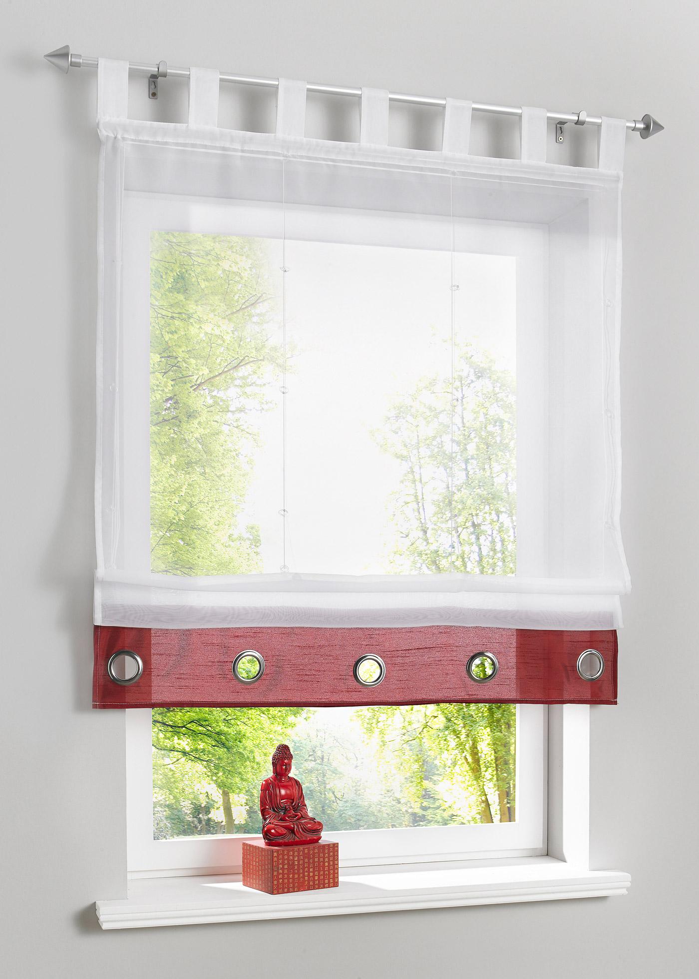 raffrollo mit schlaufen rot preisvergleiche erfahrungsberichte und kauf bei nextag. Black Bedroom Furniture Sets. Home Design Ideas