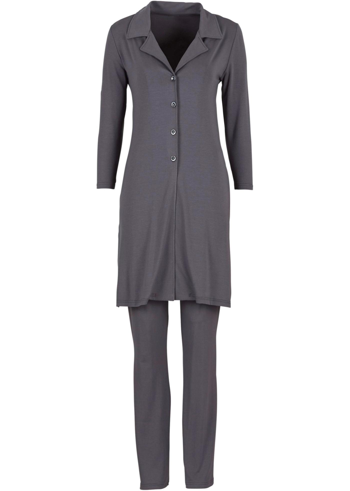 Conjunto blusa e calça cinza