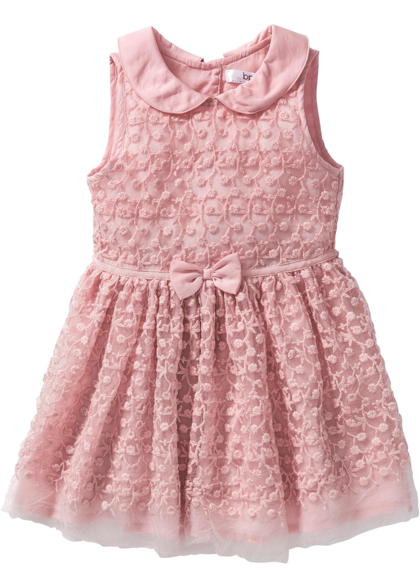 bpc bonprix collection Kleid mit Tuell, Gr. 80-134 ohne Ärmel  in rosa von bonprix