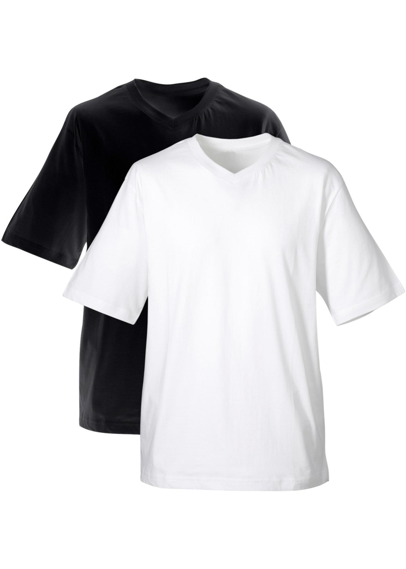 Herren T-Shirt mit V-Ausschnitt (2er-Pack)