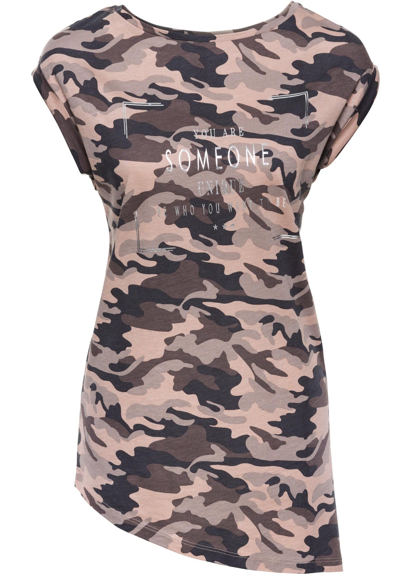 Shirt, Camouflage mit Glanzdruck
