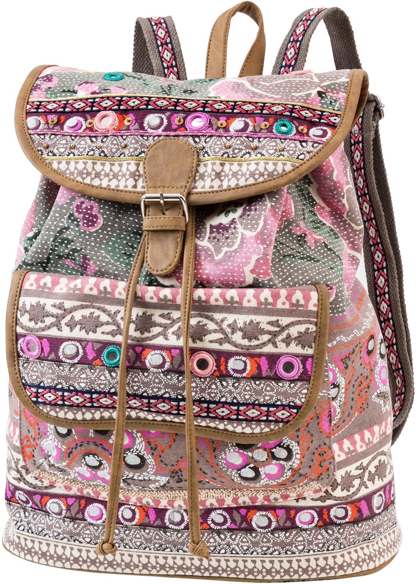 Rucksack mit Stickerei und Pailletten