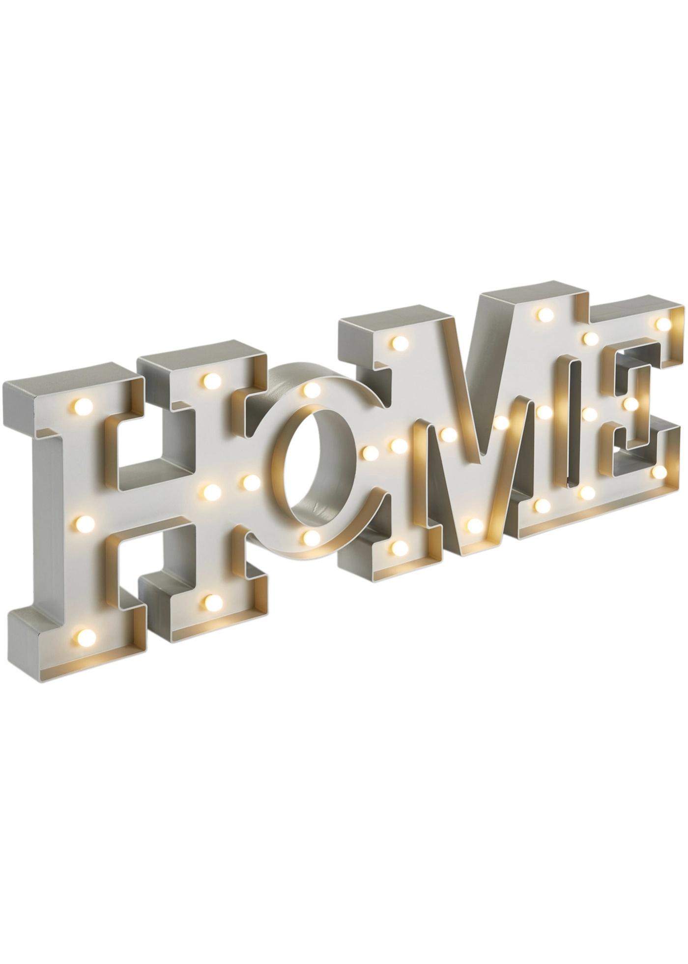 LED-Schriftzug Home