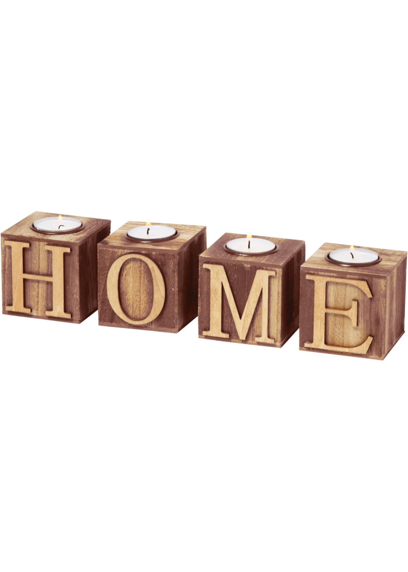 Teelichthalter Home (4-tlg. Set)