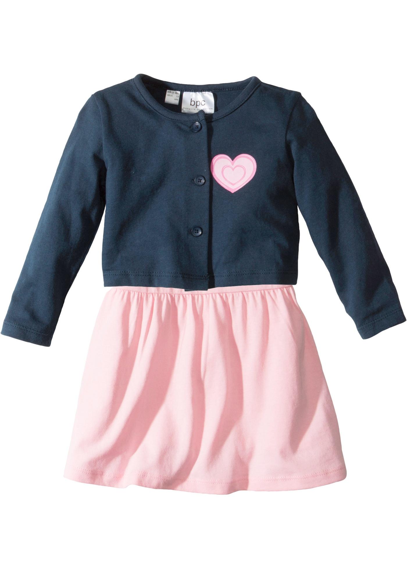 Baby Kleid + Shirtjacke (2-tlg.) Bio-Baumwolle - broschei