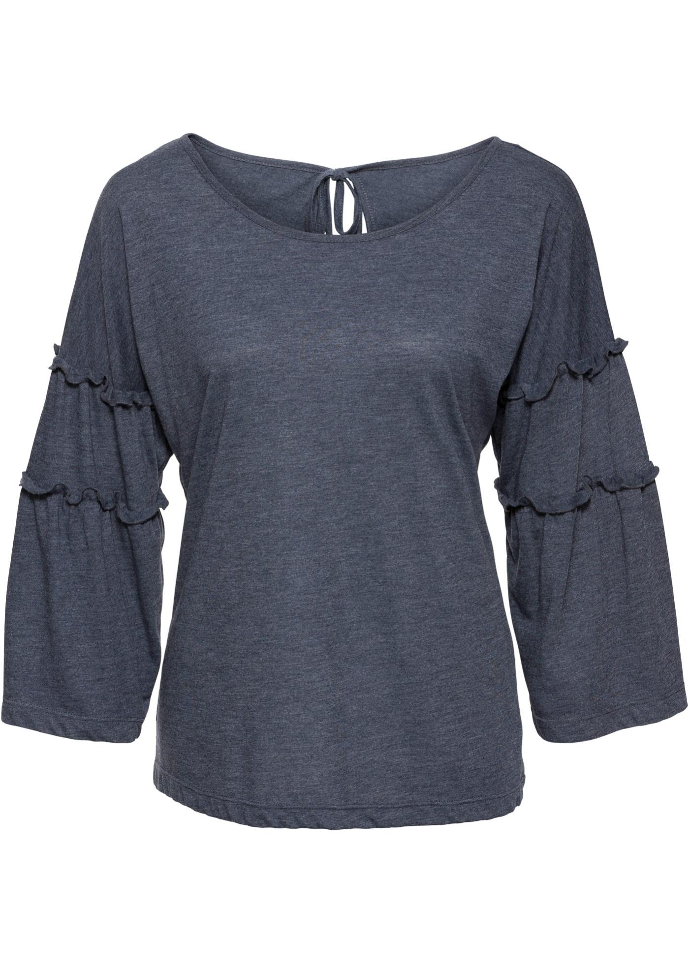 Shirt mit Volant-Ärmeln - broschei