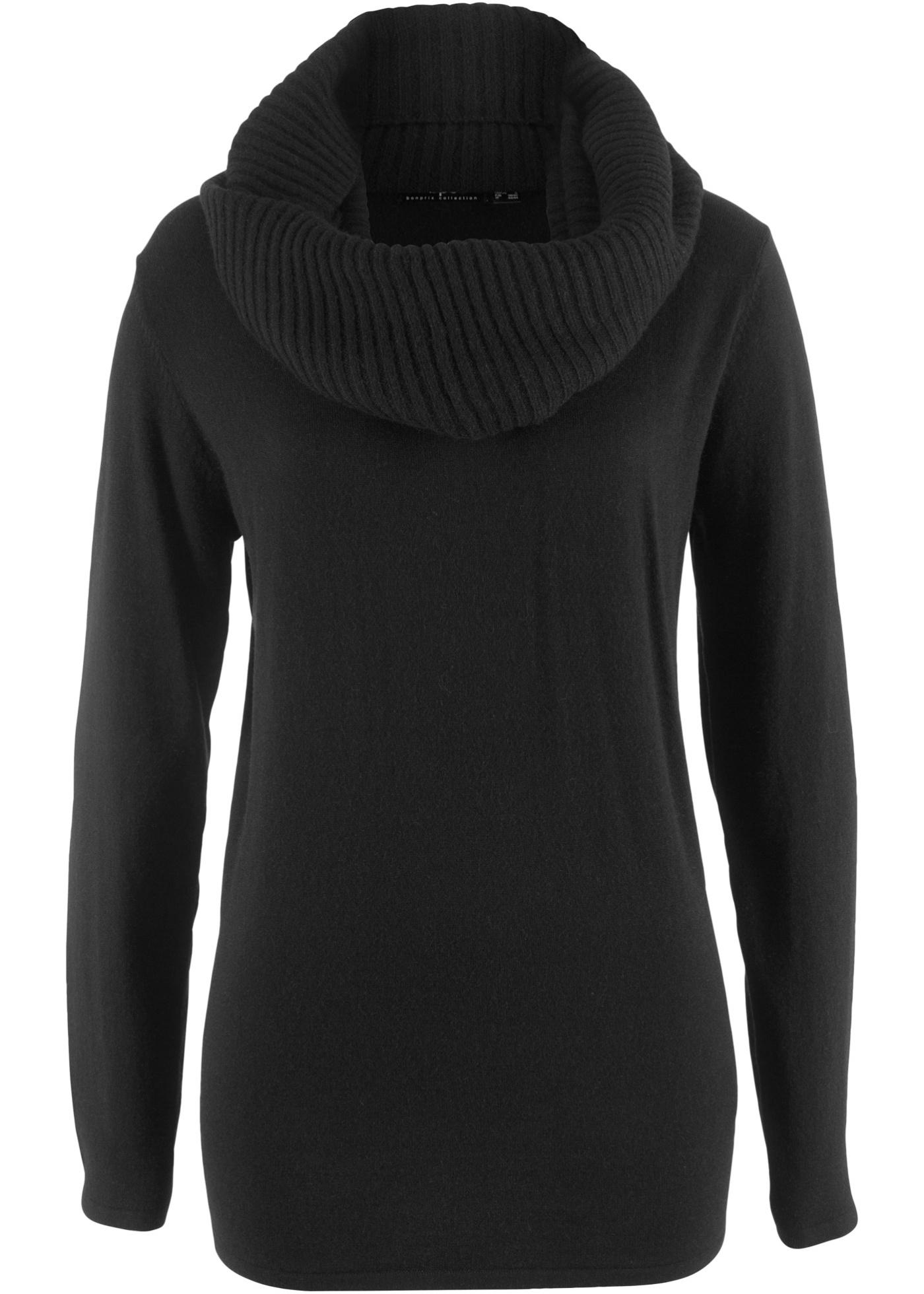2in1 Long-Pullover mit Schal