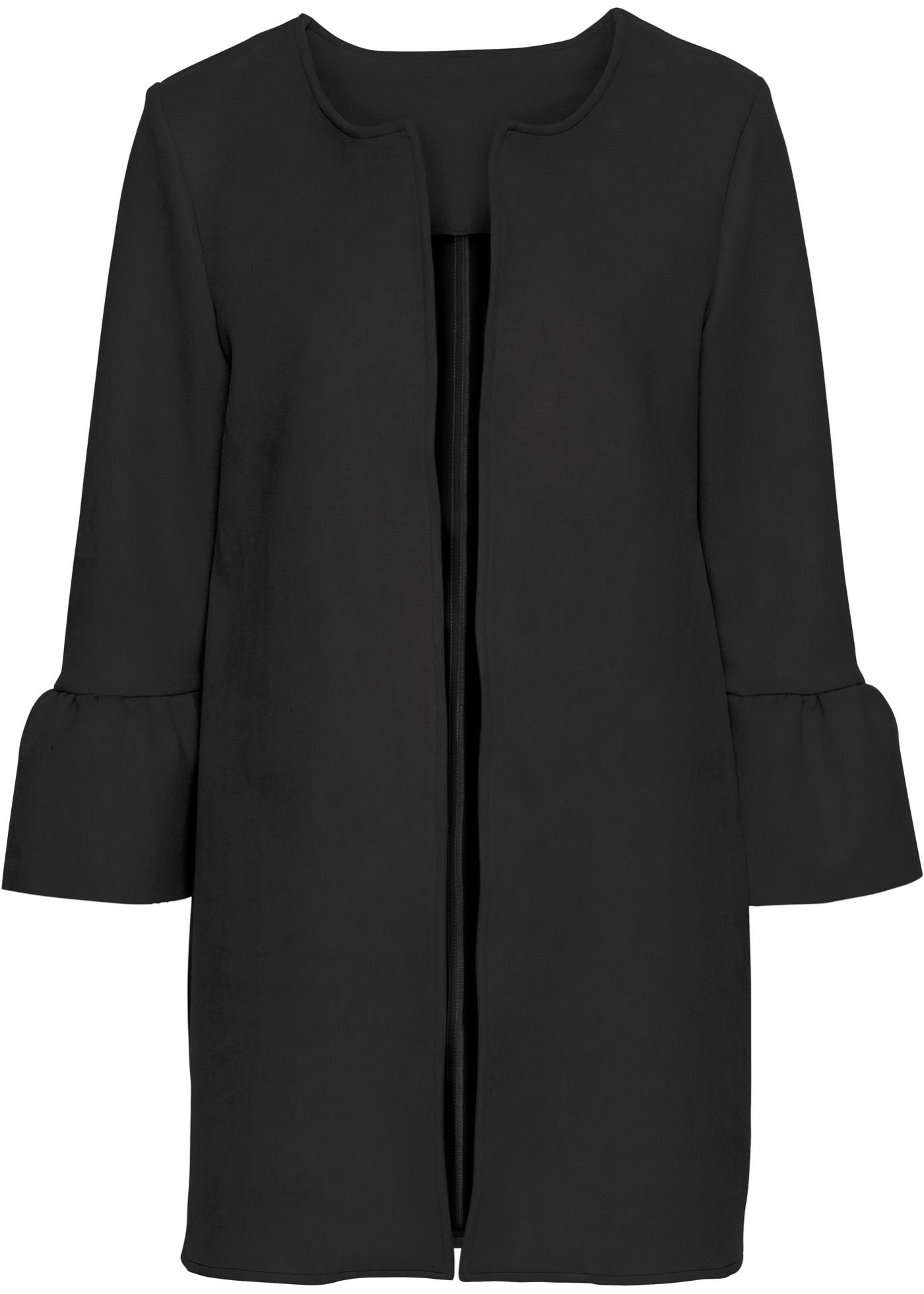 Velourslederimitat-Mantel mit Glockenärmeln jetztbilligerkaufen