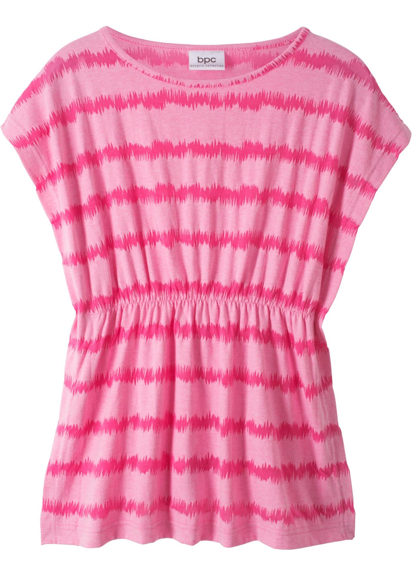 Tunika mit Transparent Muster