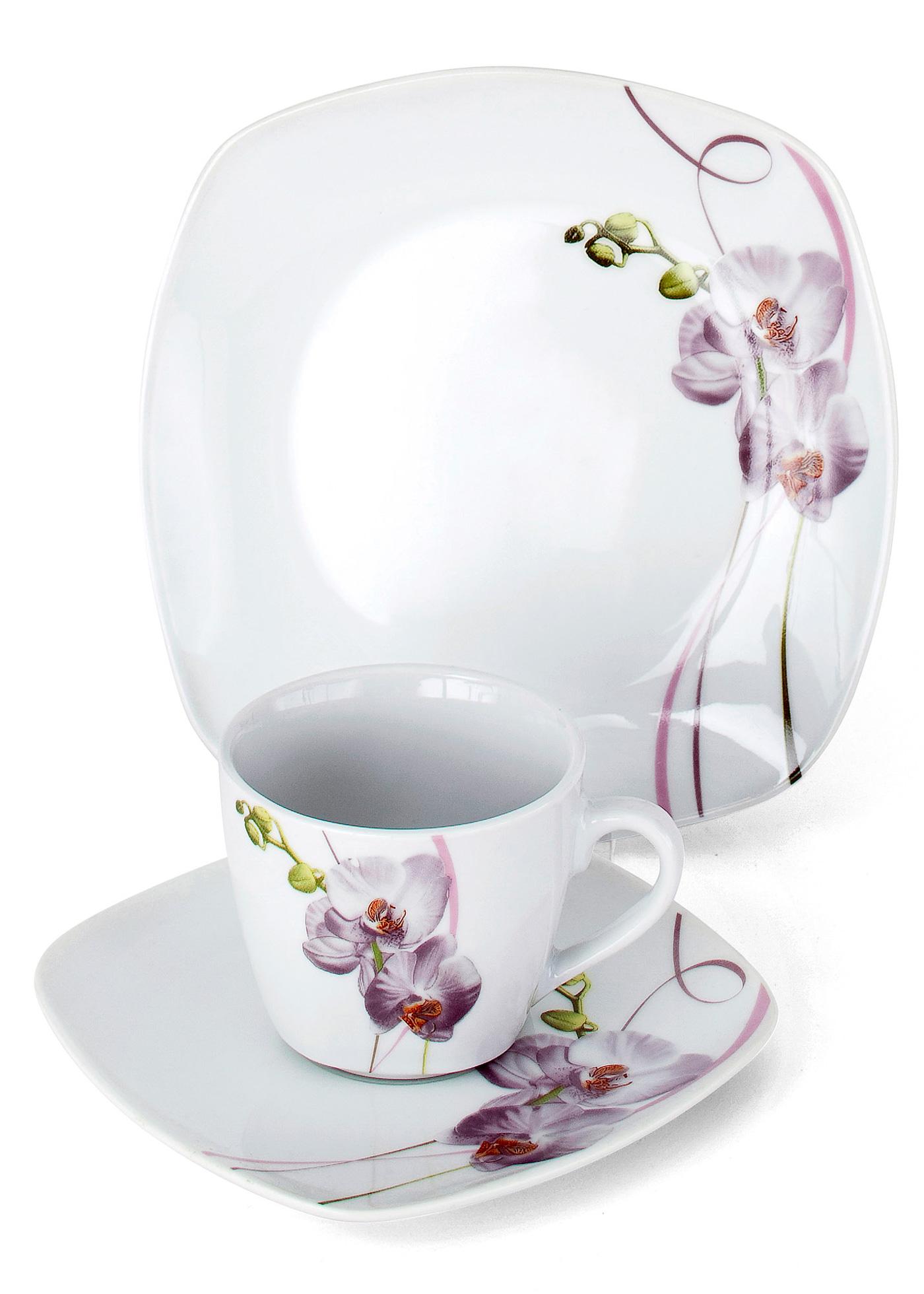 service orchidee kaffeeservice 18 tlg set in wei von bonprix. Black Bedroom Furniture Sets. Home Design Ideas
