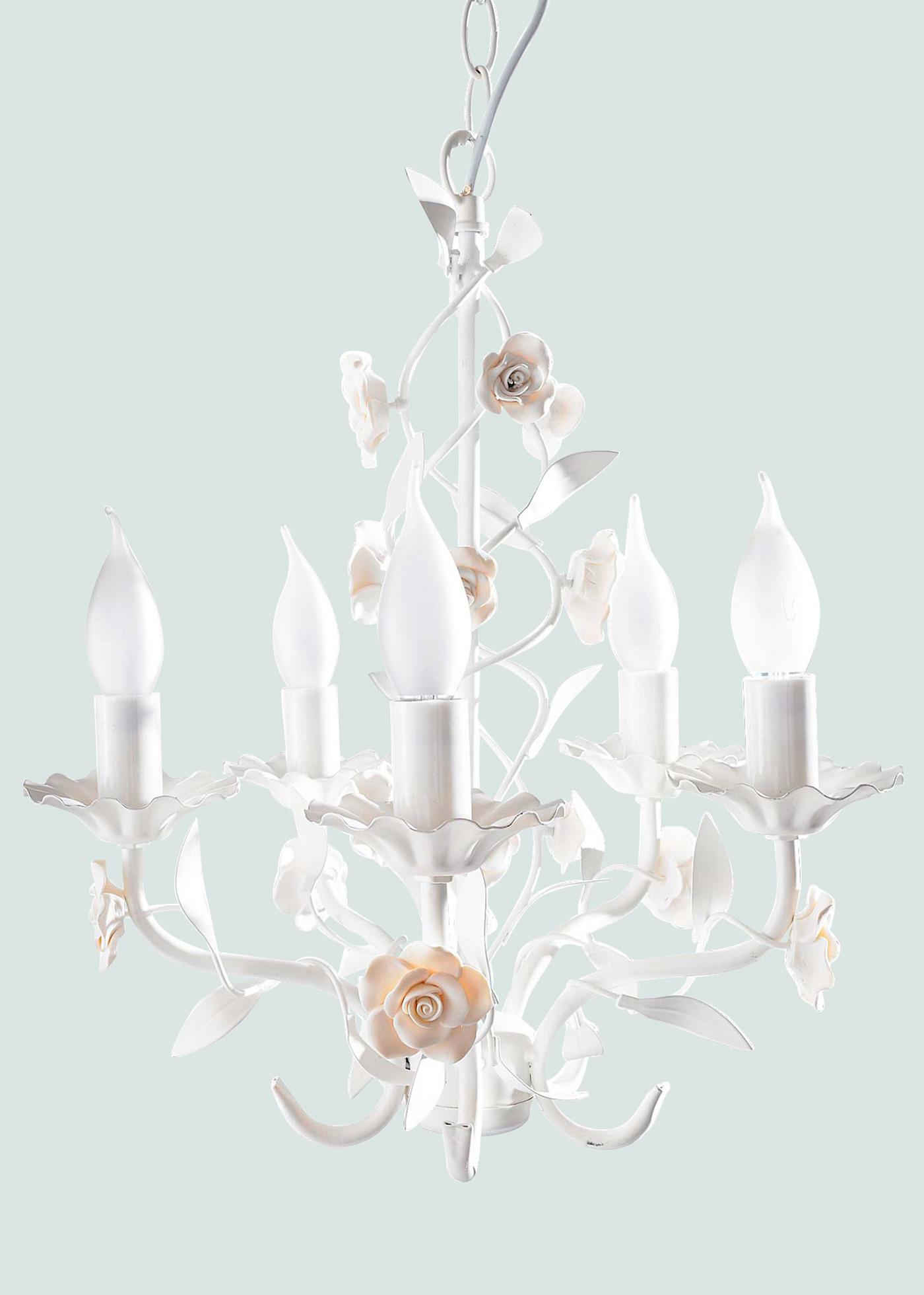 Kronleuchter Rose in weiß von bonprix Wohnen > Möbel & Dekoration > Leuchten