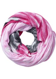 "Loop ""Rainbow"", bpc bonprix collection, anthrazit/dunkelpink/rosa"