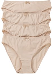 Lot de 4 slips Micro Touch, bpc bonprix collection, nude