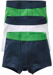 Boxershorts (3er-Pack), bpc bonprix collection, dunkelblau/grün/weiß