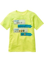 T-shirt, bpc bonprix collection, jaune fluo