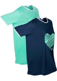Sport-Longshirt 2er Pack, kurzarm, bpc bonprix collection