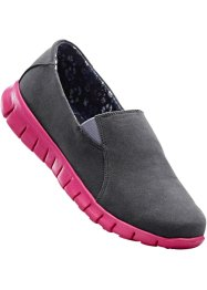 Freizeitslipper, bpc bonprix collection, grau/dunkelpink