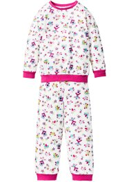 Pyjama (2-tlg.), bpc bonprix collection, wollweiss bedruckt