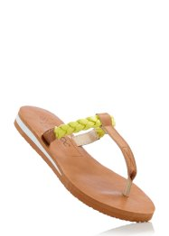 Zehenstegpantolette, bpc bonprix collection, camel/helllimone