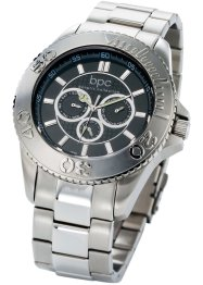 "Herrenuhr ""Pete"", bpc bonprix collection, silber"