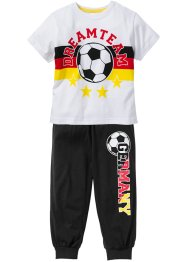Pyjama Allemagne, bpc bonprix collection, noir/rouge/or