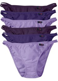Lot de 6 tangas, bpc bonprix collection, tons de violet