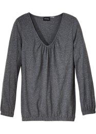 Baumwoll Langarmshirt mit Gummizug, bpc bonprix collection