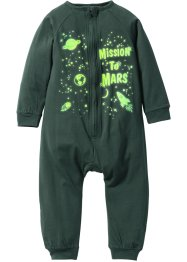 "Tuta da notte ""GLOW IN THE DARK"", bpc bonprix collection, Verde scuro"