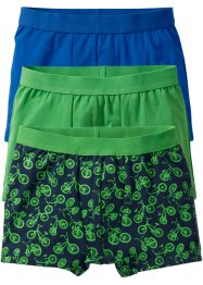 Boxershorts (3er-Pack), bpc bonprix collection, maigrün/blau