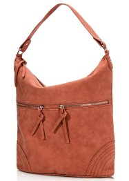 Shopper avec zips, bpc bonprix collection, cognac