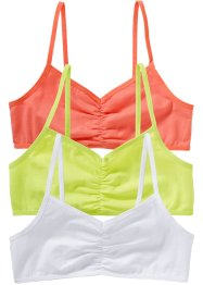 Bustier (3er-Pack), bpc bonprix collection, weiß,mintgrün,lachs