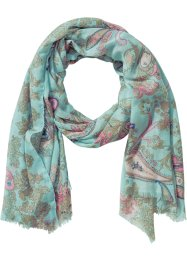 Schal Paisley/Pastell, bpc bonprix collection, aqua