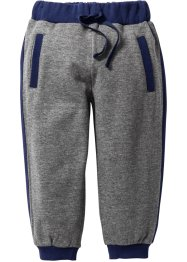 Pantalon sweat, bpc bonprix collection, gris chiné/bleu nuit