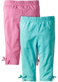Lot de 2 leggings 3/4, bpc bonprix collection, bleu ciel + rose