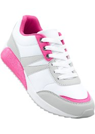 Tennis, bpc bonprix collection, gris clair/blanc/rose