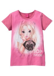 T-shirt TOP MODEL, Top Model, fuchsia mat