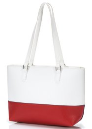 Shopper bicolore, bpc bonprix collection, blanc/fuchsia