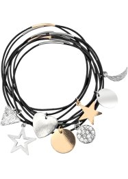 8tlg. Armbandset Bicolor, bpc bonprix collection, goldfarben/silberfarben