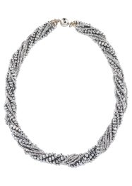 Collier Serie facettierte Steine, bpc bonprix collection, grau