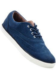 Scarpa bassa in pelle, bpc bonprix collection, Blu scuro