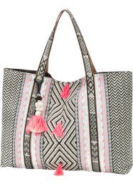 Ethnoshopper mit kleinen Troddeln, bpc bonprix collection, multi