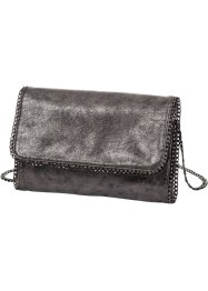 "Clutch ""Metallic"", bpc bonprix collection, silberfarben"
