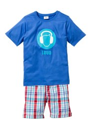 T-Shirt + Bermuda (2-tlg.), bpc bonprix collection, blau/kariert