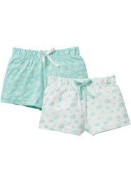 Lot de 2 shorts en jersey, bpc bonprix collection, blanc cassé