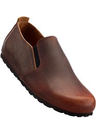 Slippers en cuir, bpc selection, marron foncé