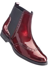 Lederlackstiefelette, bpc bonprix collection, rot