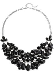 Collier, bpc bonprix collection, silberfarben/schwarz
