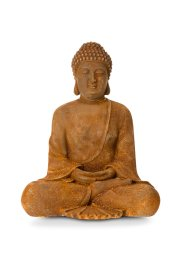 Buddha Figur, Home Collection, rostfarbent